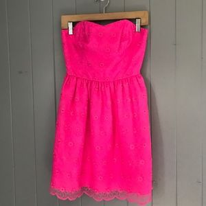 Lilly Pulitzer Payton Pink Floral Lace Dress Sz 2